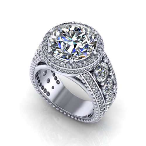 3 Carat Halo Engagement Ring Jewelry Designs