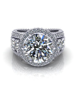3 Carat Halo Engagement Ring
