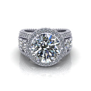 3 Carat Halo Engagement Ring