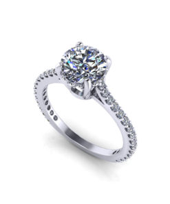 Slim Diamond Engagement Ring
