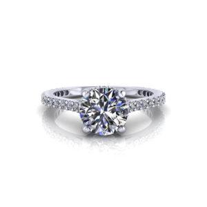 Slim Diamond Engagement Ring