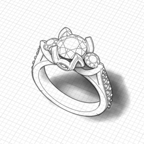 Tulip 3 Stone Engagement