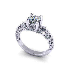 Artistic Diamond Engagement Ring