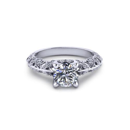 Artistic Diamond Engagement Ring