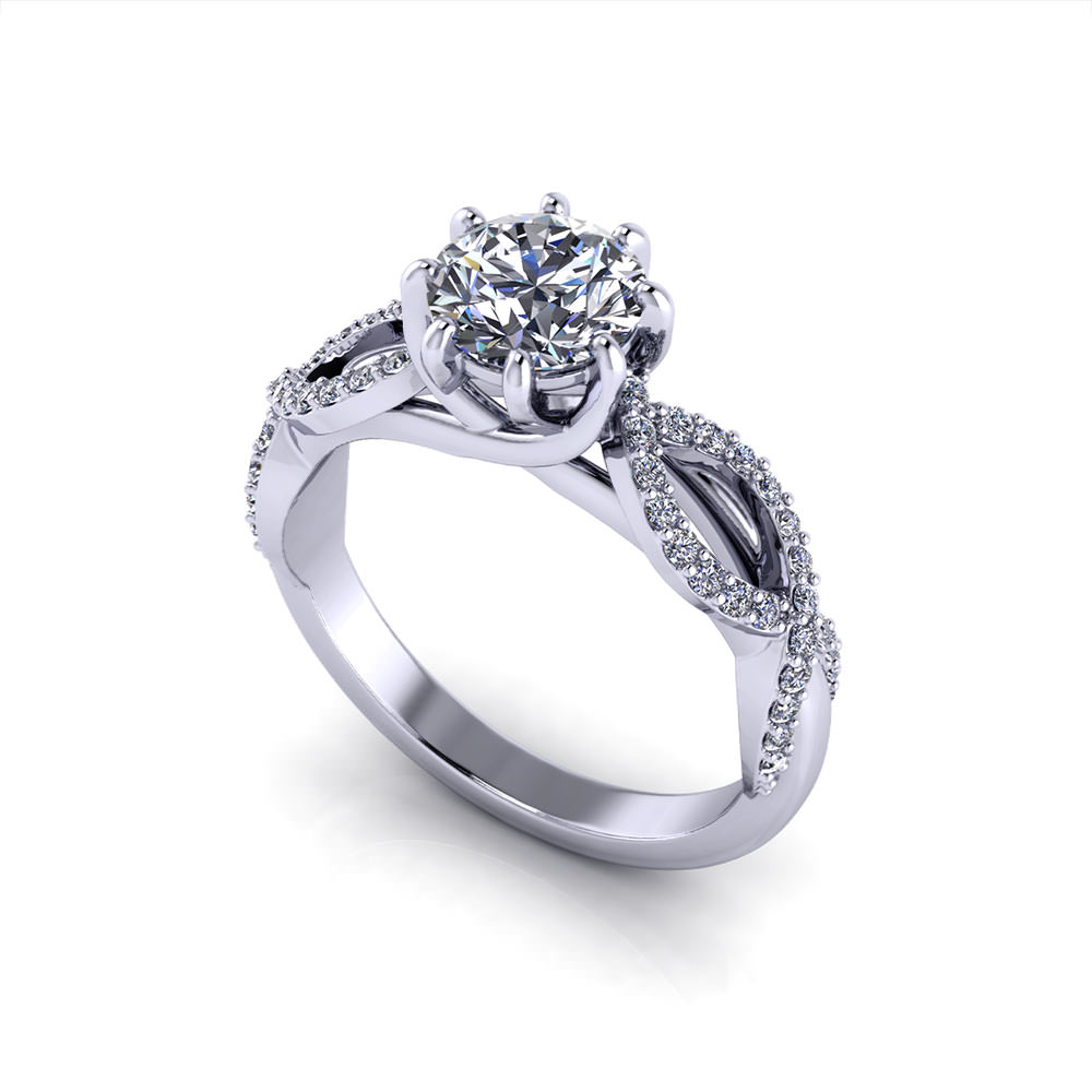 twisted infinity image wedding sterling silver engagement jewellery rings set ring ladies womens