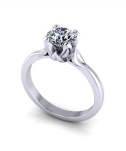 Petal Solitaire Engagement Ring