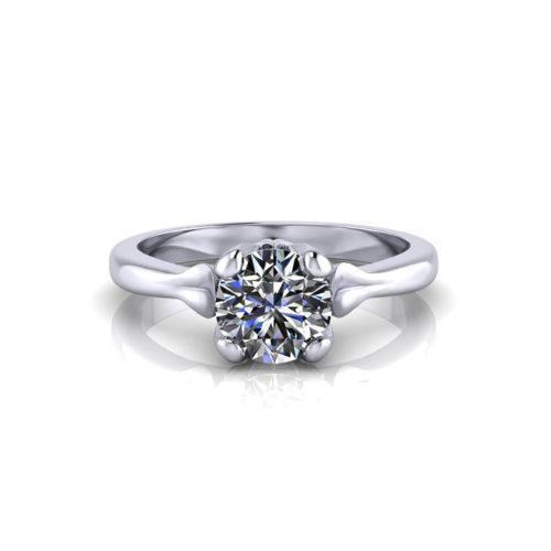 Petal Solitaire Engagement Ring