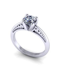 Unique Solitaire Engagement Ring