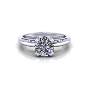 Unique Solitaire Engagement Ring