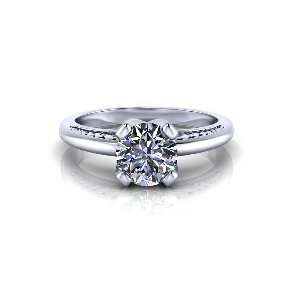 Unique solitaire engagement ring jewelry designs for Custome wedding rings