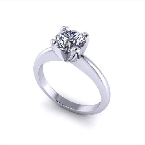 Four Prong Solitaire Engagement Ring