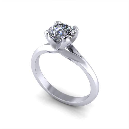 Split Solitaire Engagement Ring