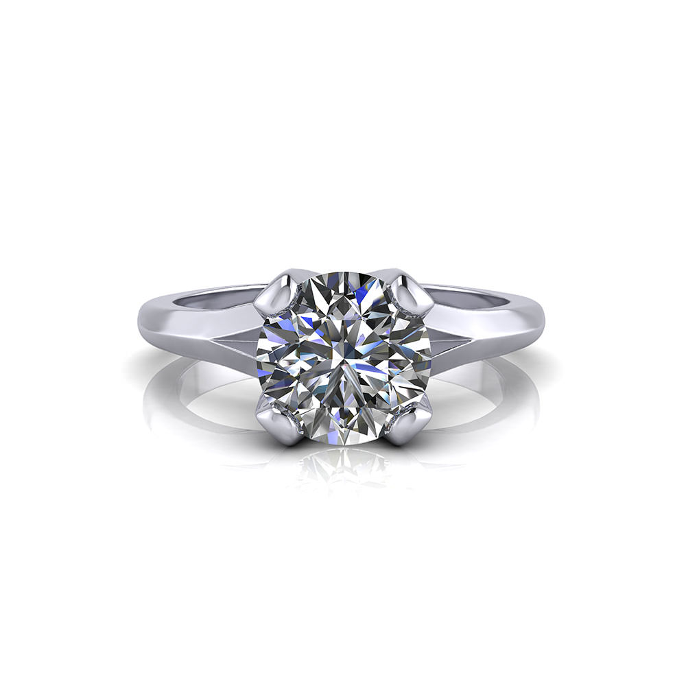 Split Solitaire Engagement Ring