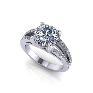 Split Engagement Ring
