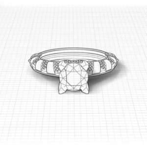 Diamond Stripe Engagement Ring