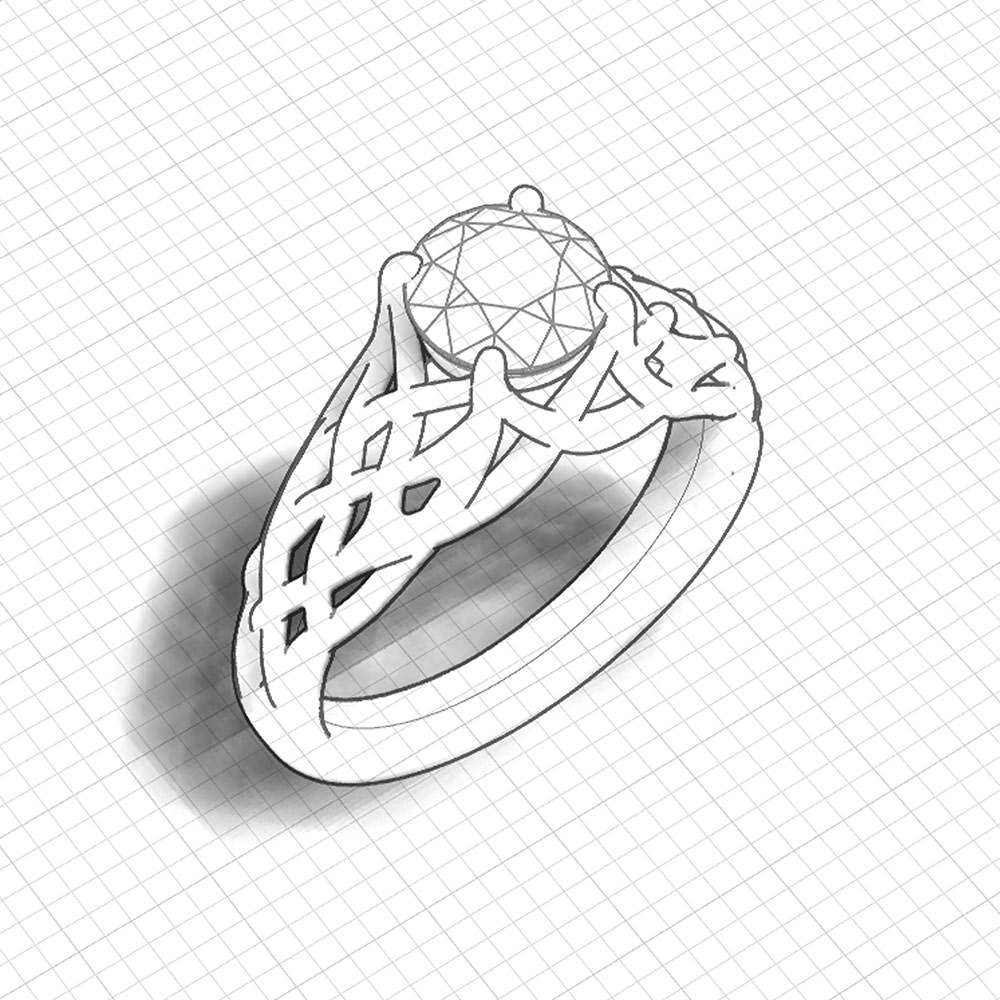 Woven Engagement Ring