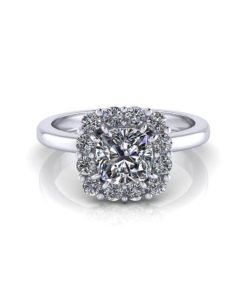 Halo Cushion Cut Engagement Ring