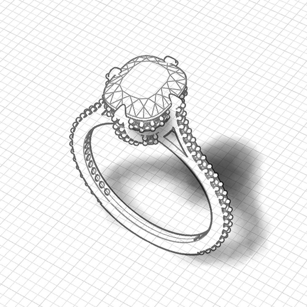 Cushion Diamond Engagement Ring