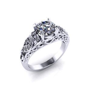 Diamond Bow Engagement Ring