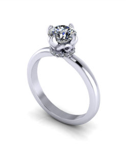 Artistic Diamond Solitaire Ring