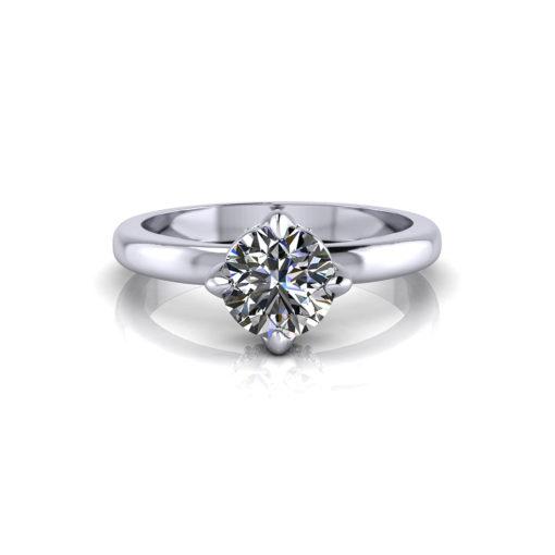 Artistic Diamond Solitaire Ring