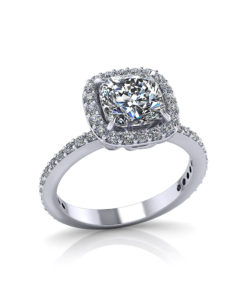Diamond Cushion Halo Engagement