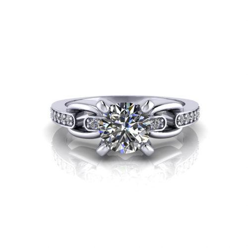 Linked Diamond Engagement Ring