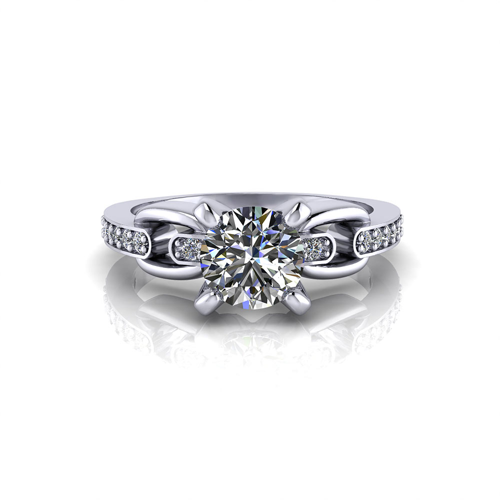 Linked Diamond Engagement Ring