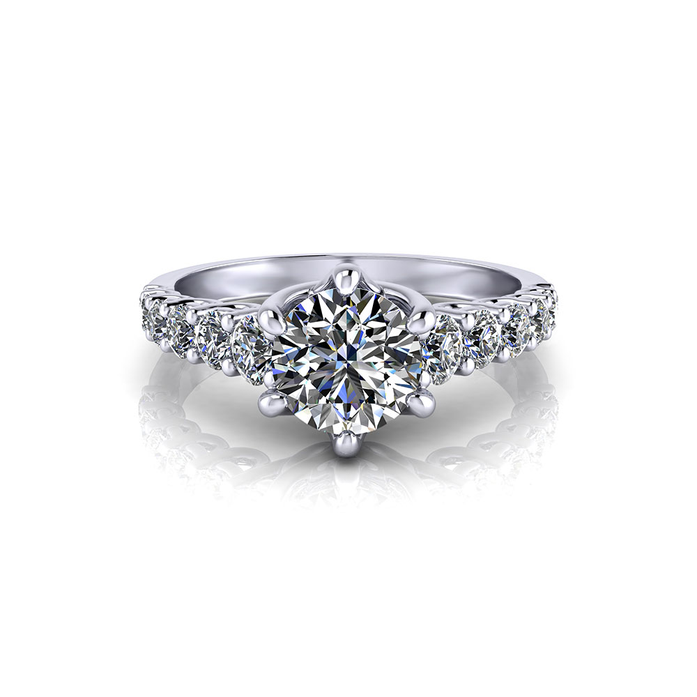Scrolling Trellis Engagement Ring