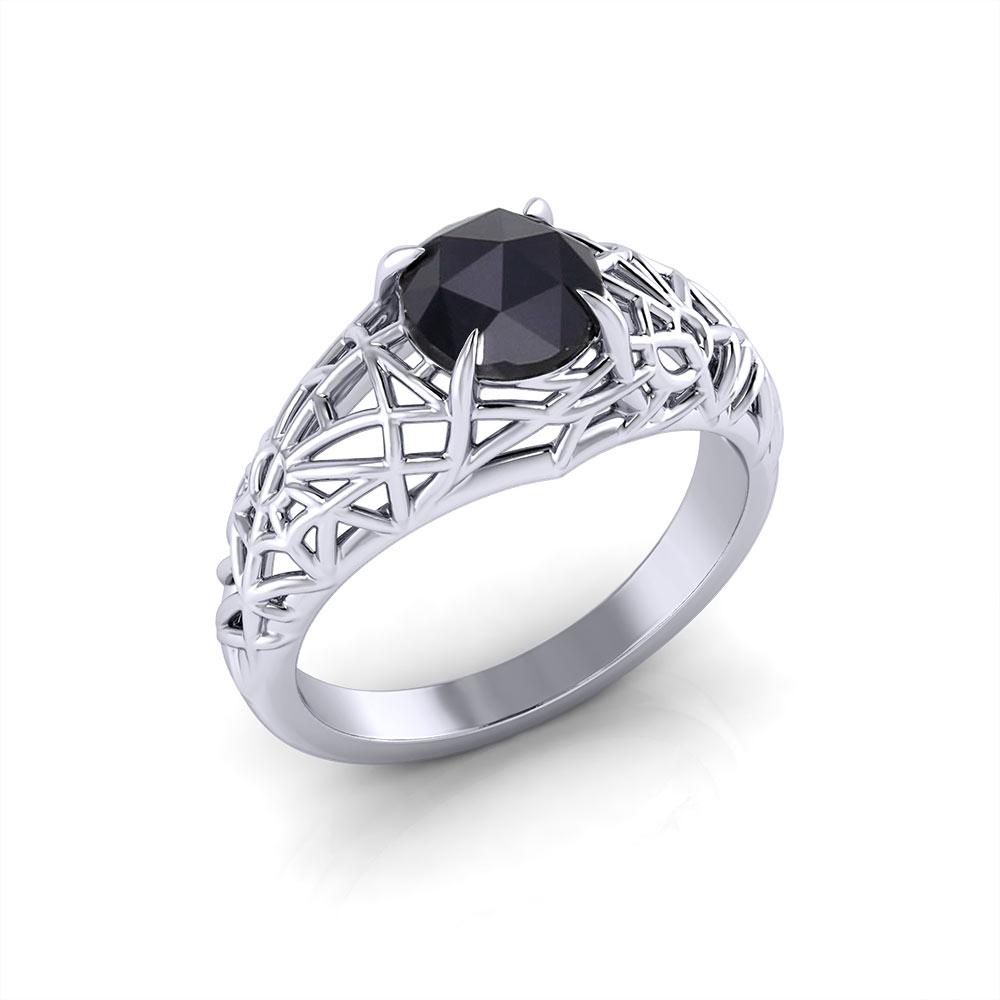 Black Diamond Spider Web Ring Jewelry Designs