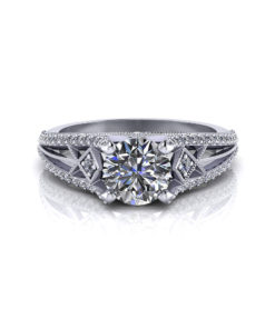 Round Art Deco Engagement Ring