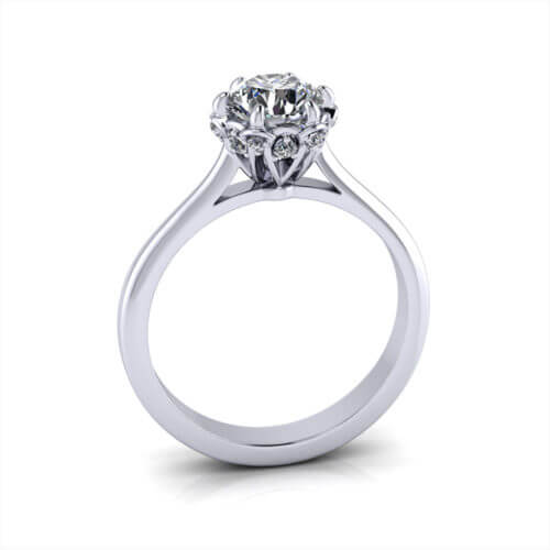 Linked Prong Engagement Ring