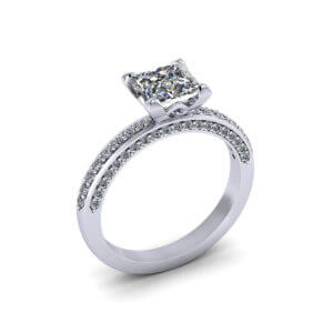 Princess Line Engagement Ring