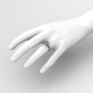 Halo Emerald Diamond Engagement Ring