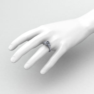 Oval Three Stone Engagement Ring