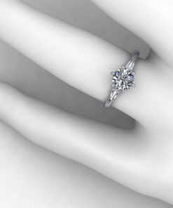 Delicate Bow Engagement Ring