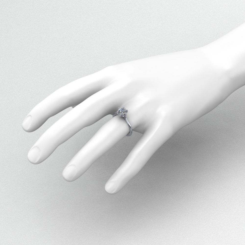 6 Prong Petal Engagement Ring