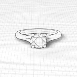 Trellis Solitaire Engagement Ring