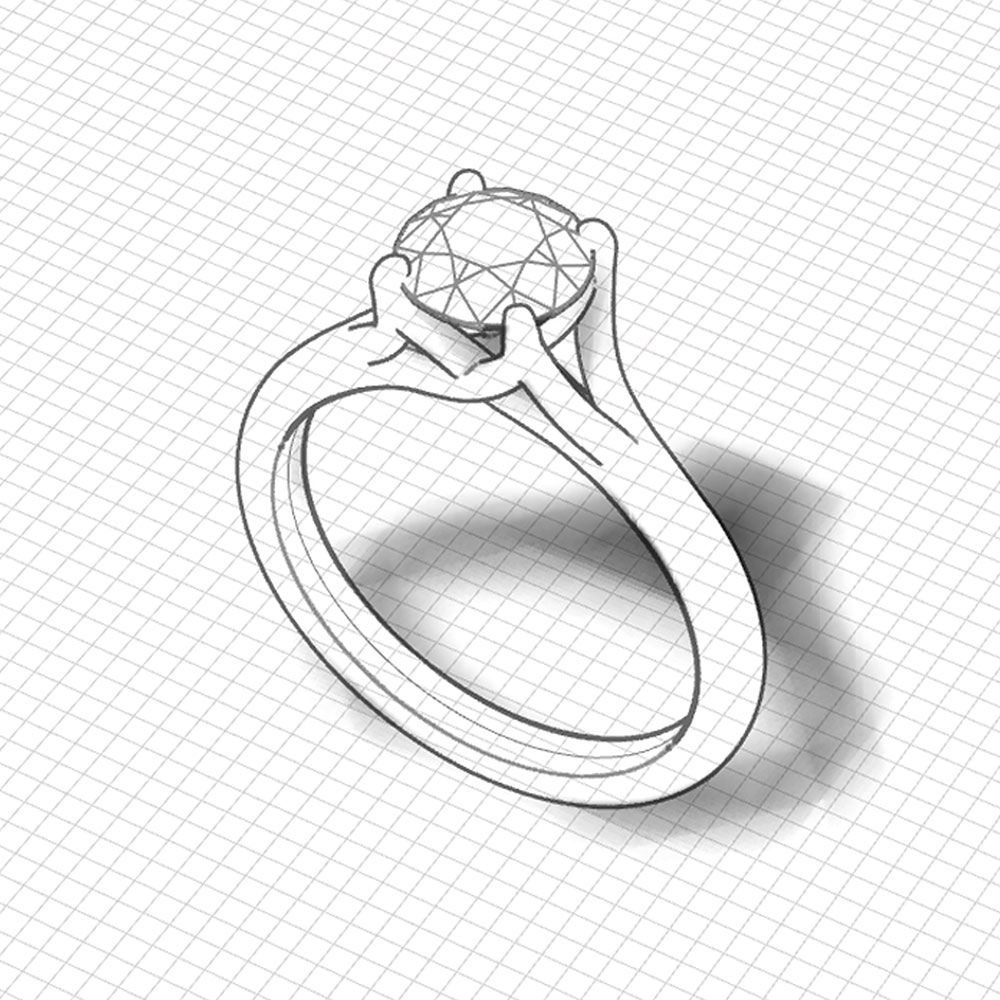 Trellis Solitaire Engagement Ring Jewelry Designs