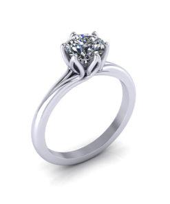 Delicate Petal Engagement Ring