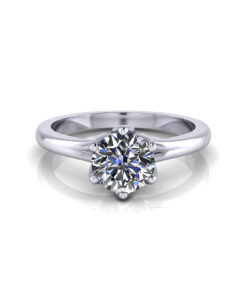 Delicate Petal Engagement Ring