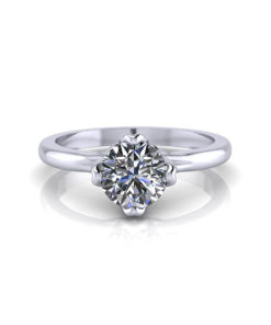 4 Prong Petal Engagement Ring