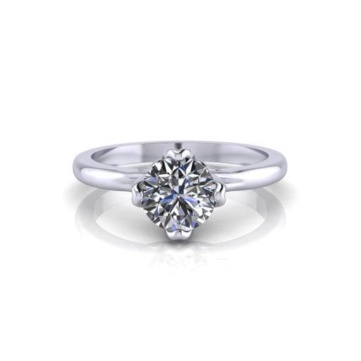 4 Prong Petal Engagement Ring