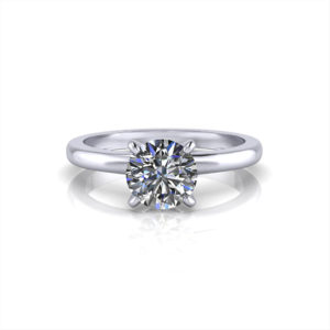 Delicate 4 Prong Engagement Ring