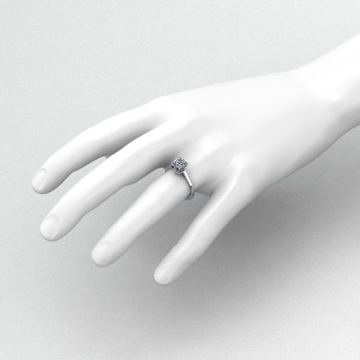 Diamond Burst Engagement Ring