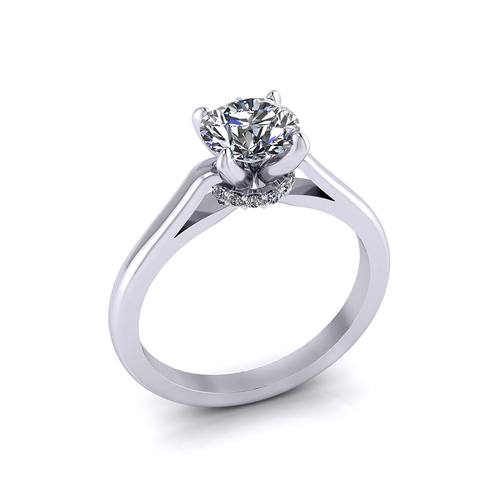 Diamond Burst Engagement Ring