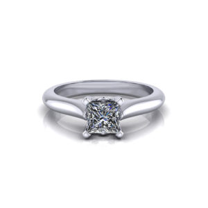 Solitaire Princess Cut Engagement Ring