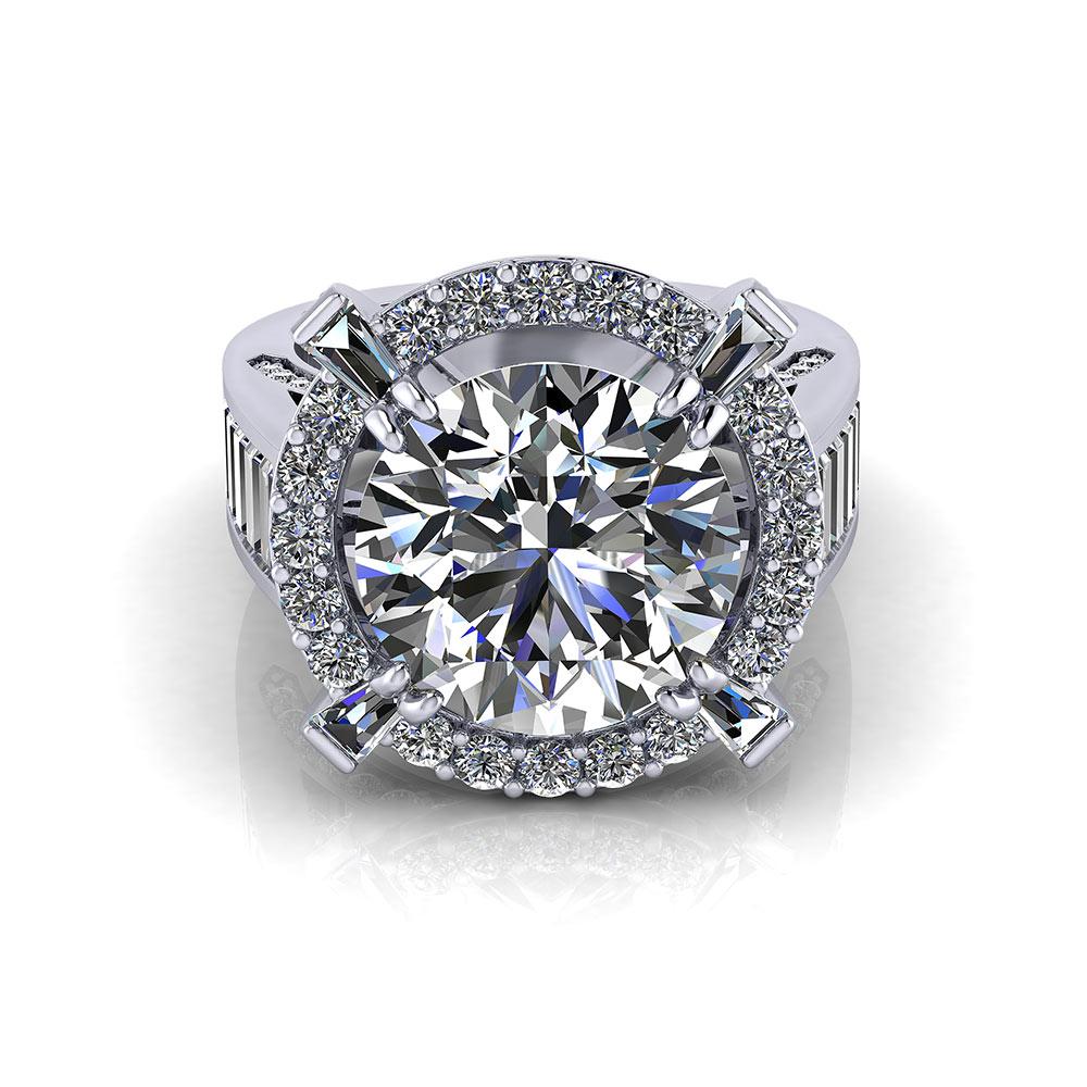 5 Carat Halo Engagement Ring
