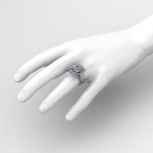 5 Carat Halo Engagement Ring