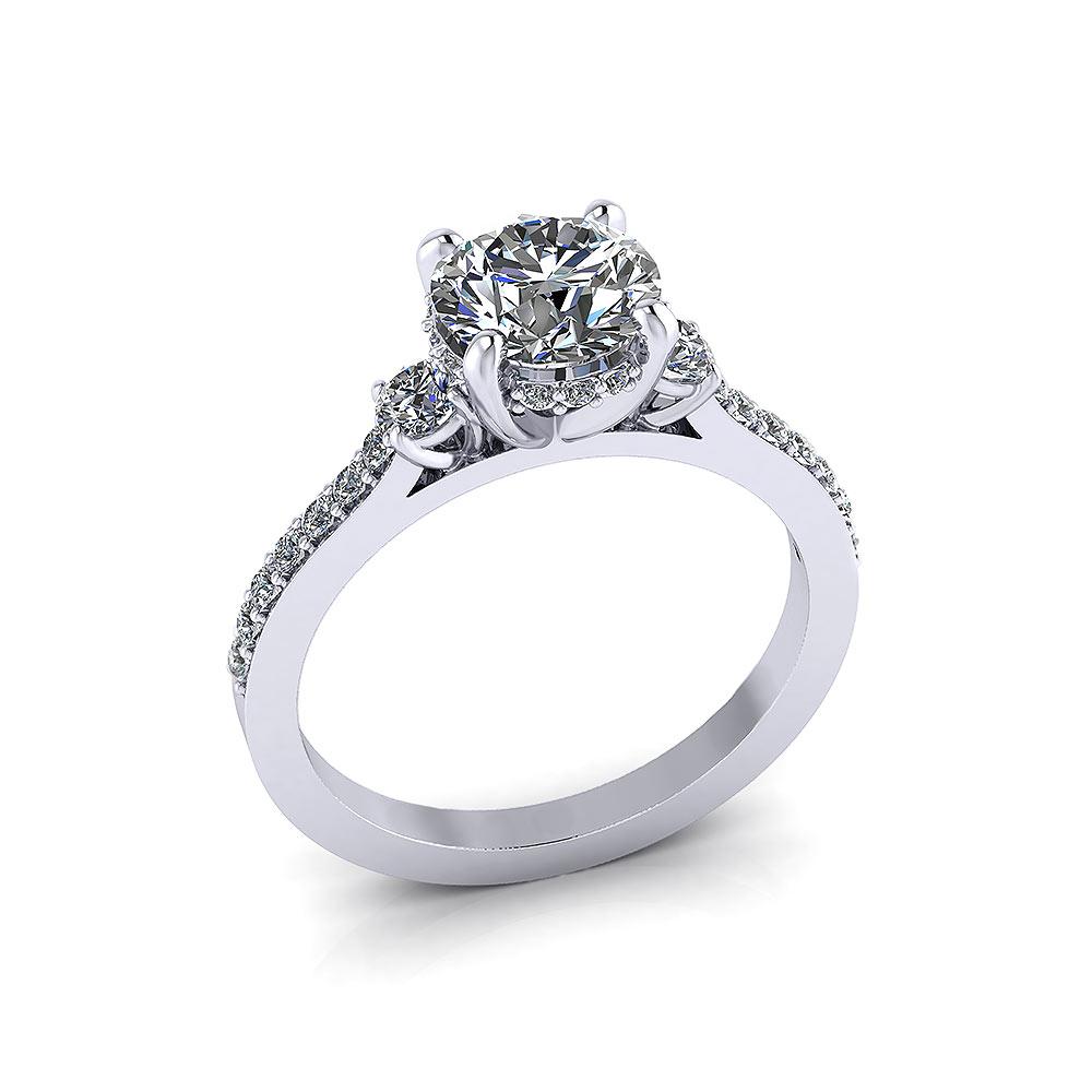 Bridged Engagement Diamond Ring   Jewelry Designs